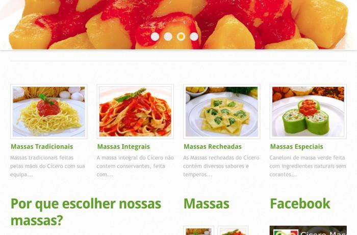 Criação de web site para Cícero Massas