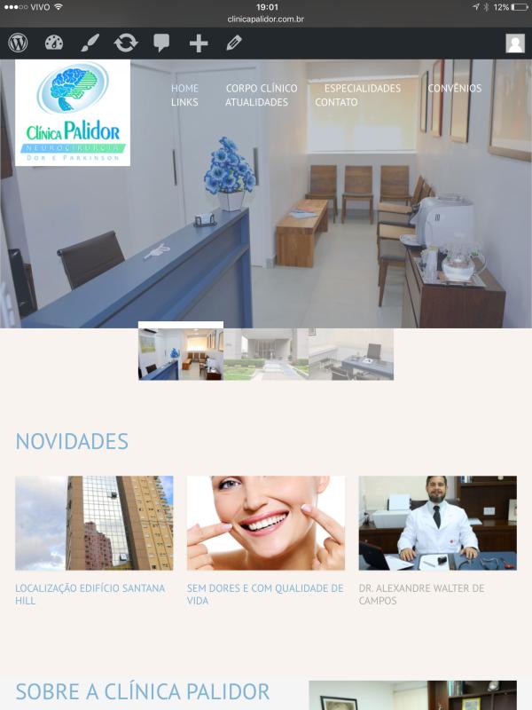 Novo Web Site Clínica Palidor